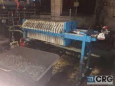 JWI filter press, 18 X 20 inch plates