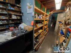 Lot of assorted electrical, pneumatic, and hydraulic parts including breakers, powerswitches,