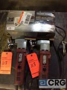 Lot of (3) Chicago Electric 18 gauge sheet metal sheers, 1 phase