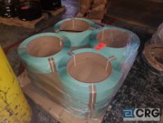 Lot of (12) poly strapping