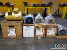 Lot of (5) assorted motors 1/3 hp to 1.5 hp (NEW)