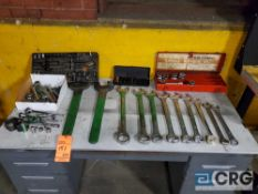 Lot of assorted wrenches, sockets, etc.