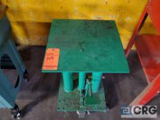 Wesco m/n HT-300-FR portable die table, 18 in. X 18 in., 300lbs capacity