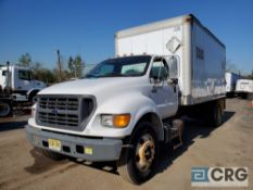 2000 Ford F650 Box Truck w/ lift gate, 26,000 GVWR, with 16' Morgan box, Model GVSD0851696, 35 cubic