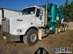 2004 Kenworth T800 tag axle Turbo Vac Truck, 77,000 GVWR, 8,723 hours, with 3,000 gal. capacity