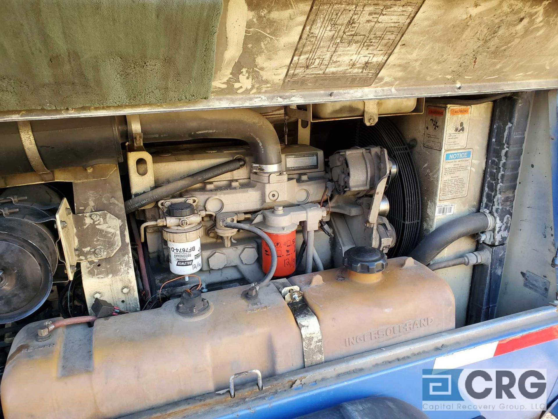 1997 Ingersoll Rand P185WJD tag along Air Compressor - Image 5 of 7