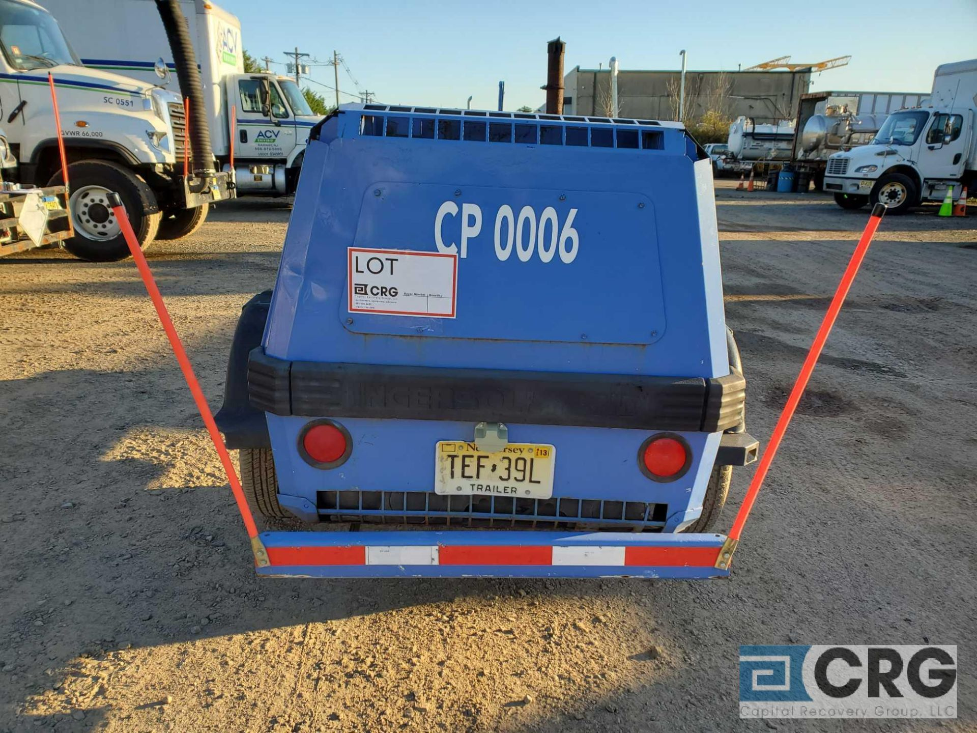 1997 Ingersoll Rand P185WJD tag along Air Compressor - Image 3 of 7