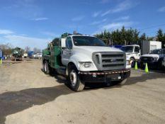2004 Ford F650 Liquid Vac Truck, 26,000 GVWR, with 1,100 gal. capacity carbon Liquid vac, Masport