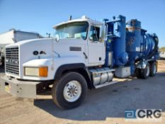 1998 Mack CV713 tandem axle Turbo Vac Truck, 66,000 GVWR, 8,795 hours, with 3,000 gal. capacity