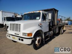 2001 International 4700 tandem axle Flat Bed Sewer Cleaner Jet Truck