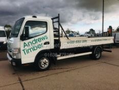 ON SALE MITSUBISHI FUSO CANTER 3C13-35 (15 REG) 14FT ALLOY DROPSIDE - 1 OWNER *IDEAL SCAFFOLD*