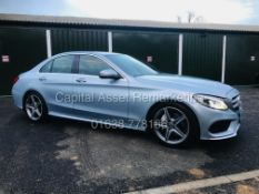 """(ON SALE) MERCEDES C220d """"AMG LINE"""" AUTOMATIC (18 REG) 1 OWNER - LEATHER - NAV - REAR CAMERA"""
