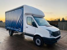"""ON SALE VOLKSWAGEN CRAFTER CR35 2.0TDI """"LWB"""" CURTAINSIDE TRUCK - 2017 MODEL - EURO 6 -1 OWNER - LOOK"""