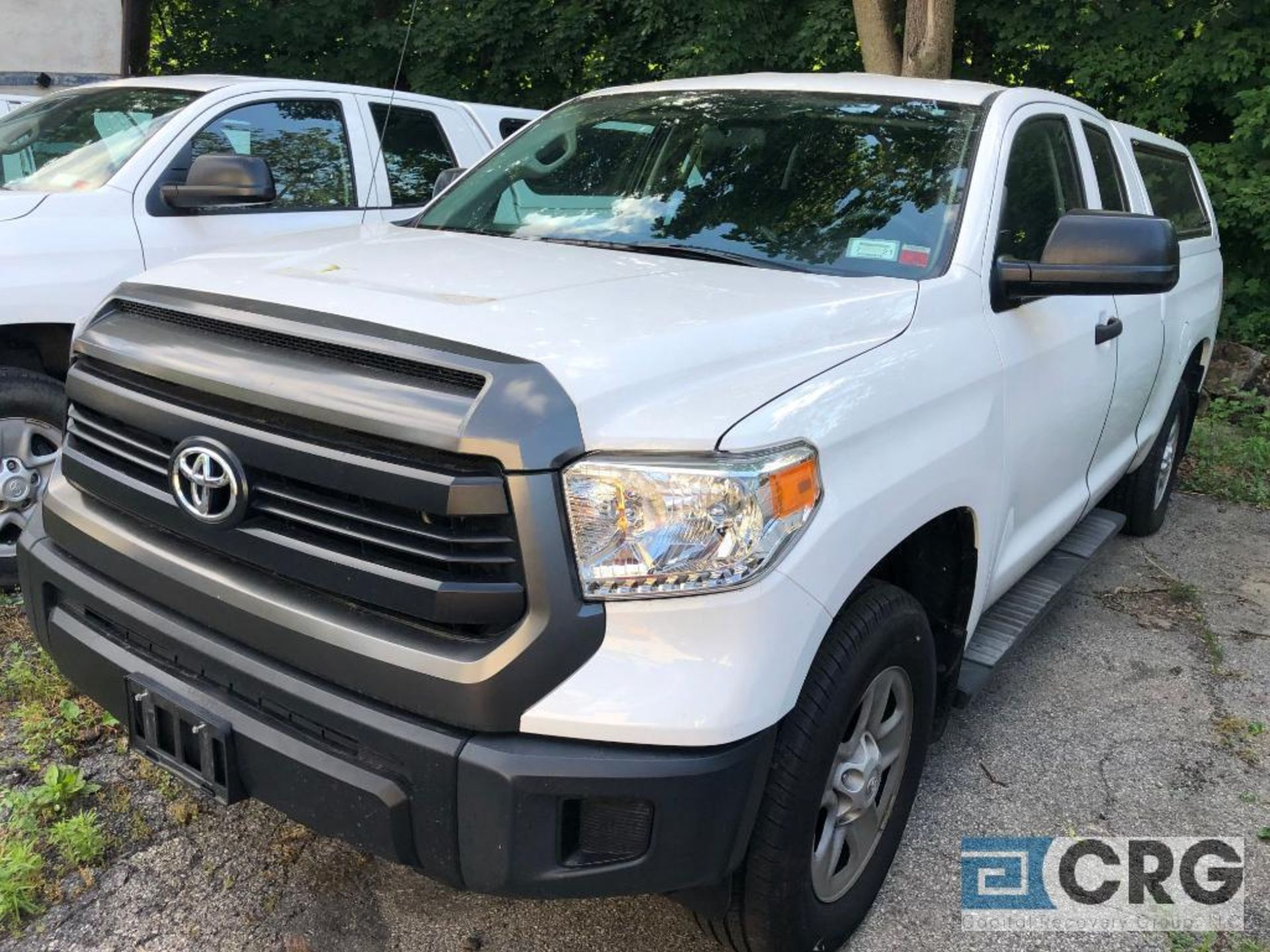 Lot 332 - 2017 Toyota Tundra 4X4 double cab pickup truck with bed cap and toolbox, 47111 miles, I-Force 4.6