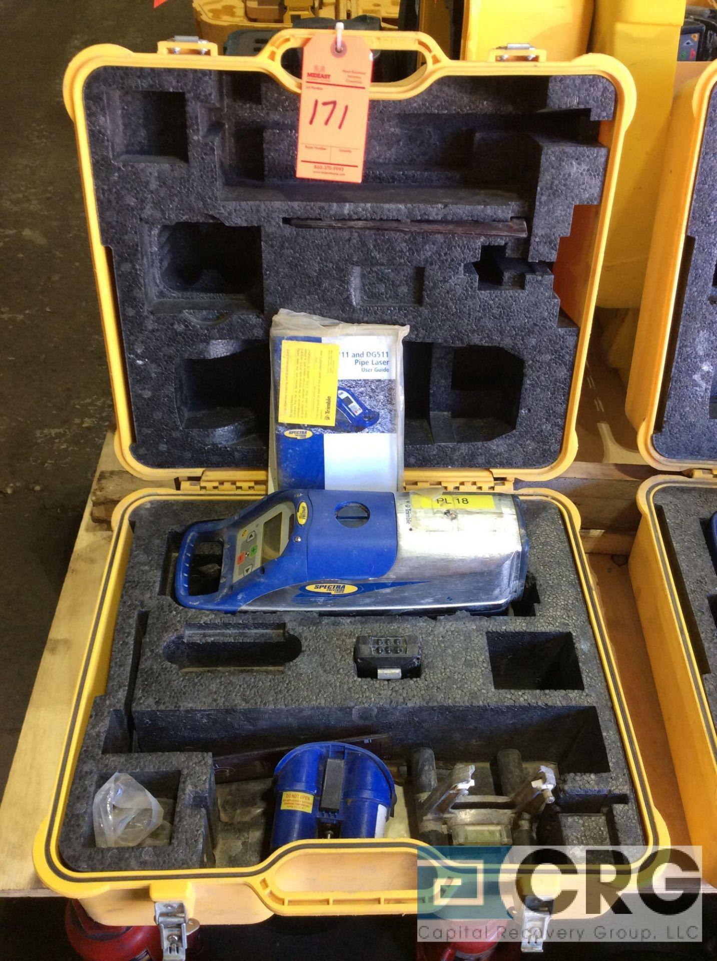 Lot 171 - Trimble DG711 Spectra Precision pipe laser with case