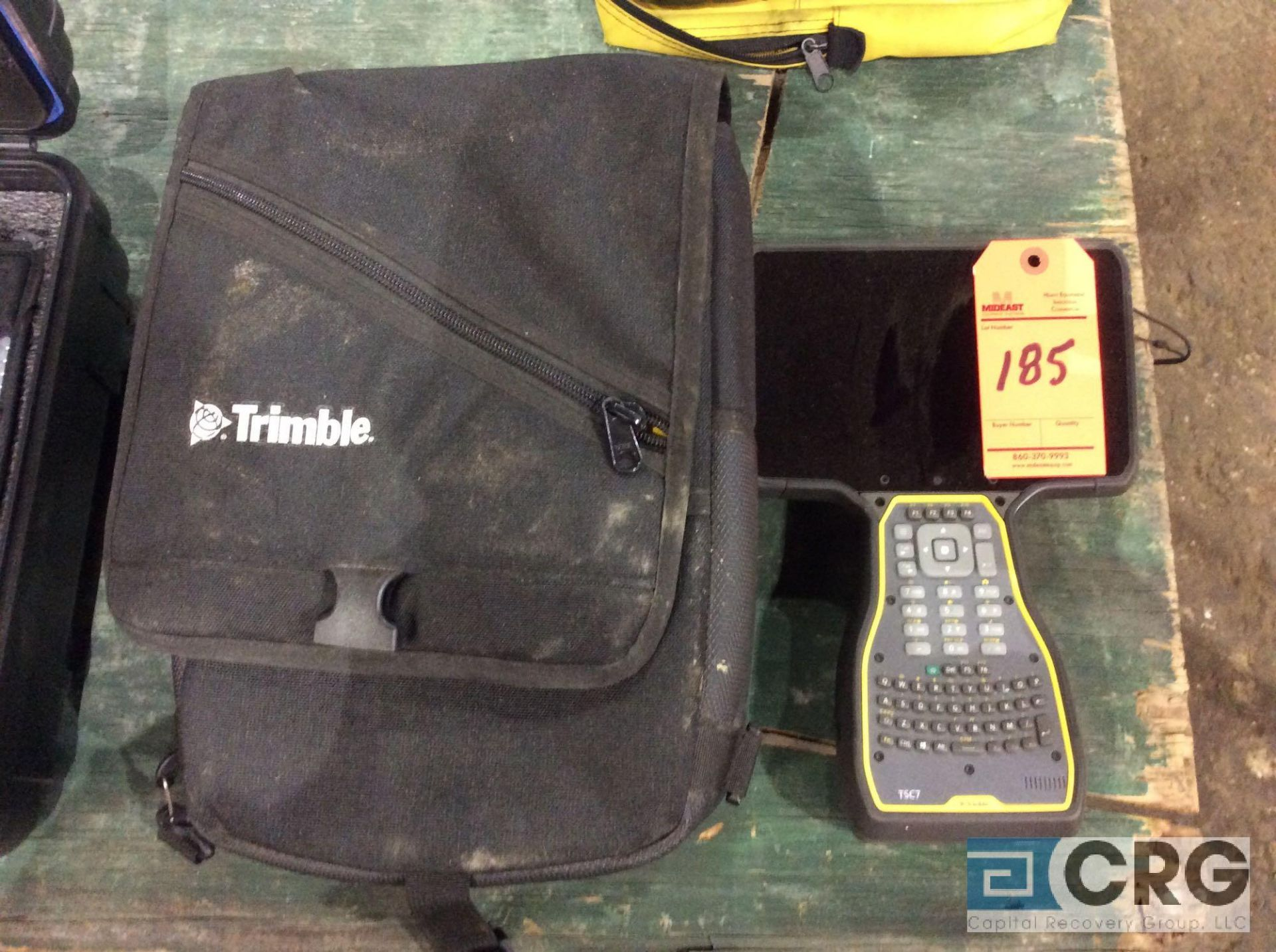 Lot 185 - Trimble GPS TSC7 data collector with case, with Trimble Earthworks software
