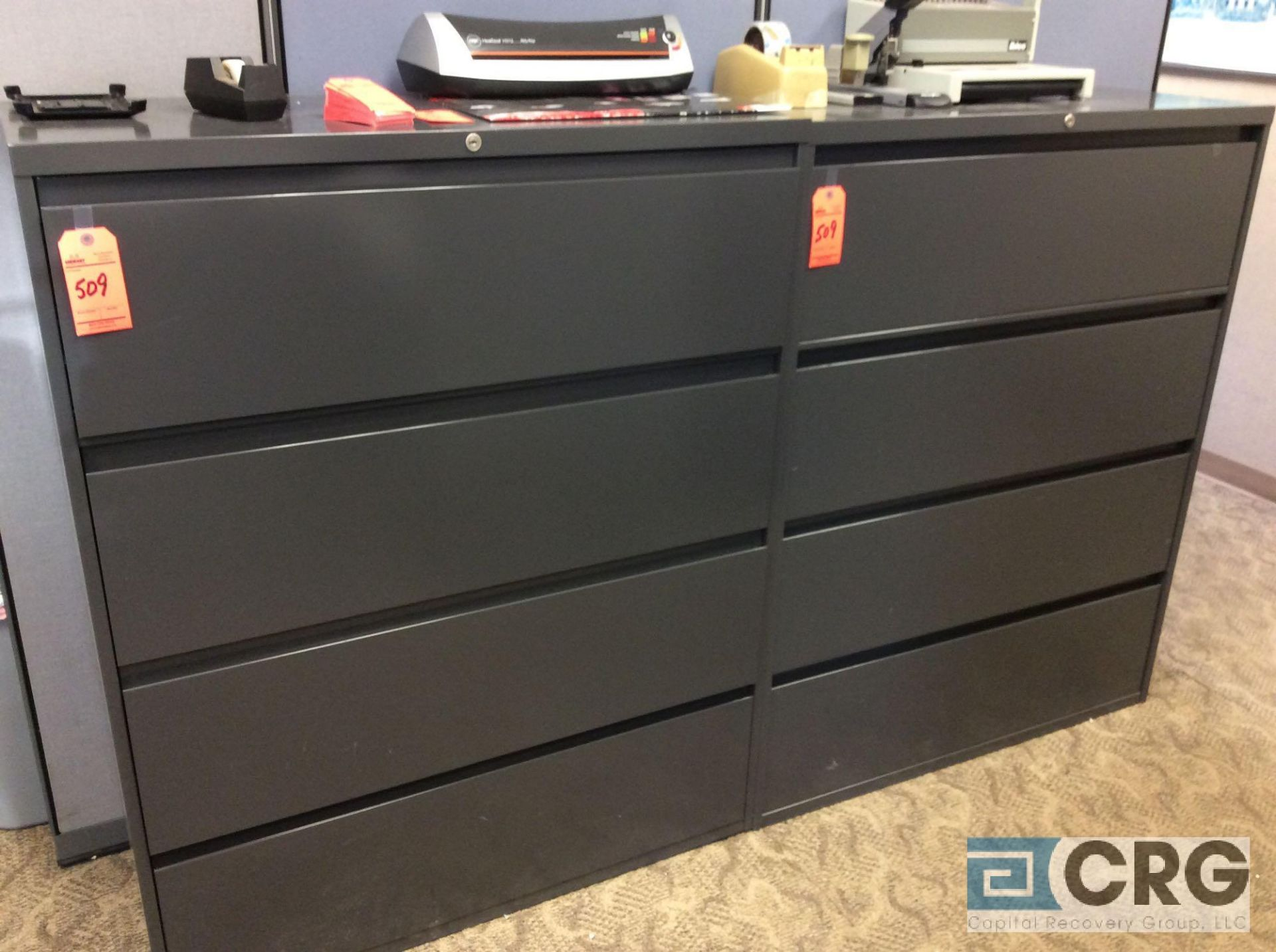 Lot 509 - Lot of (2) Steelcase 4-drawer lateral files