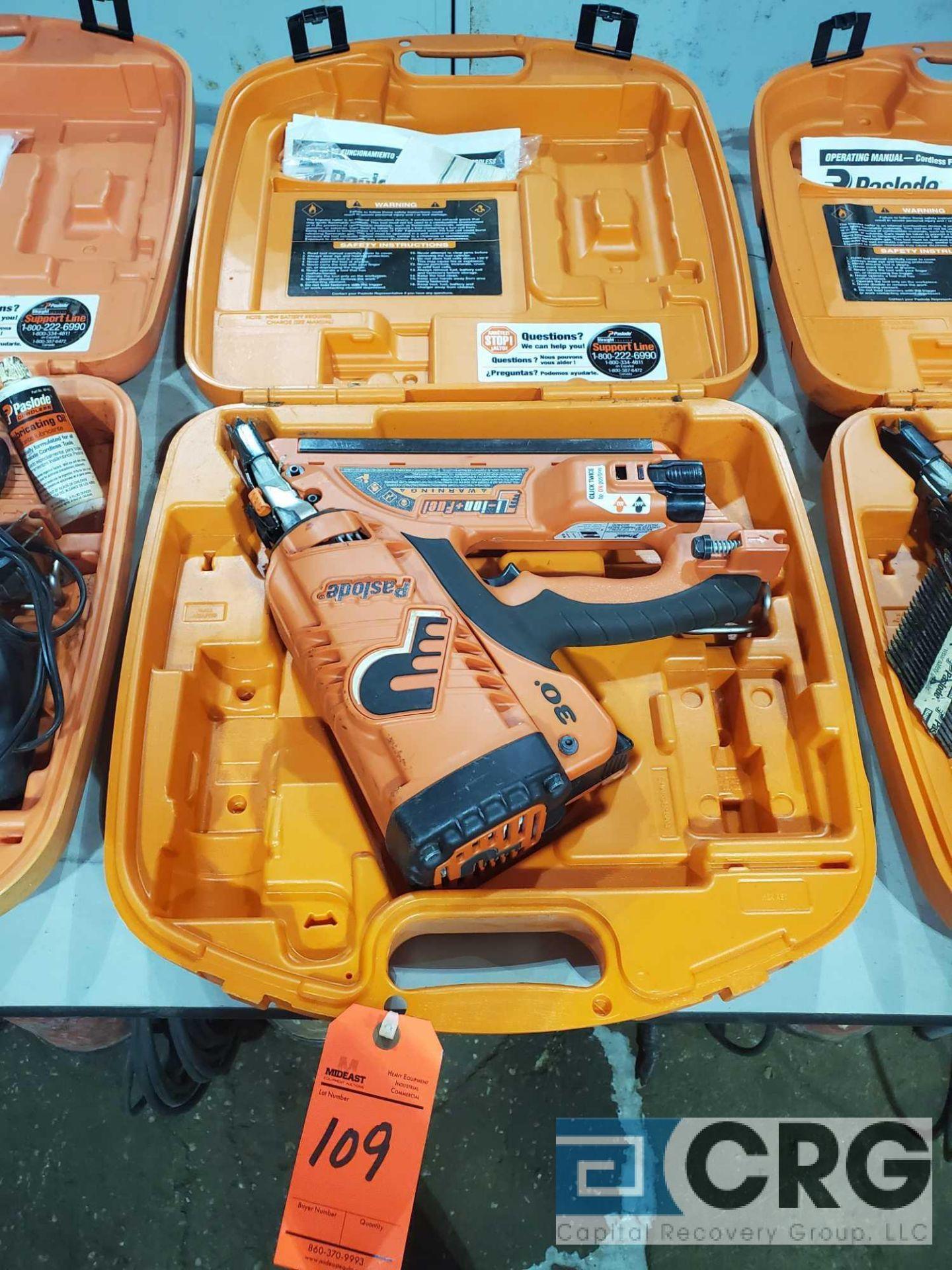 Lot 109 - Paslode CF325LI cordless framing nailer with case