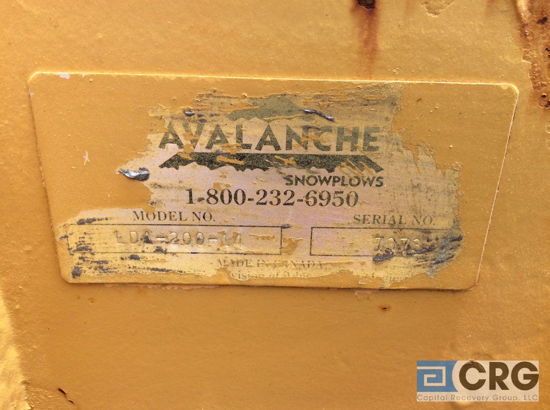 """Lot 497 - Avalanche LDA-200-14 14' Loader model snow pusher, 52"""" tall. Rubber cutting edge."""
