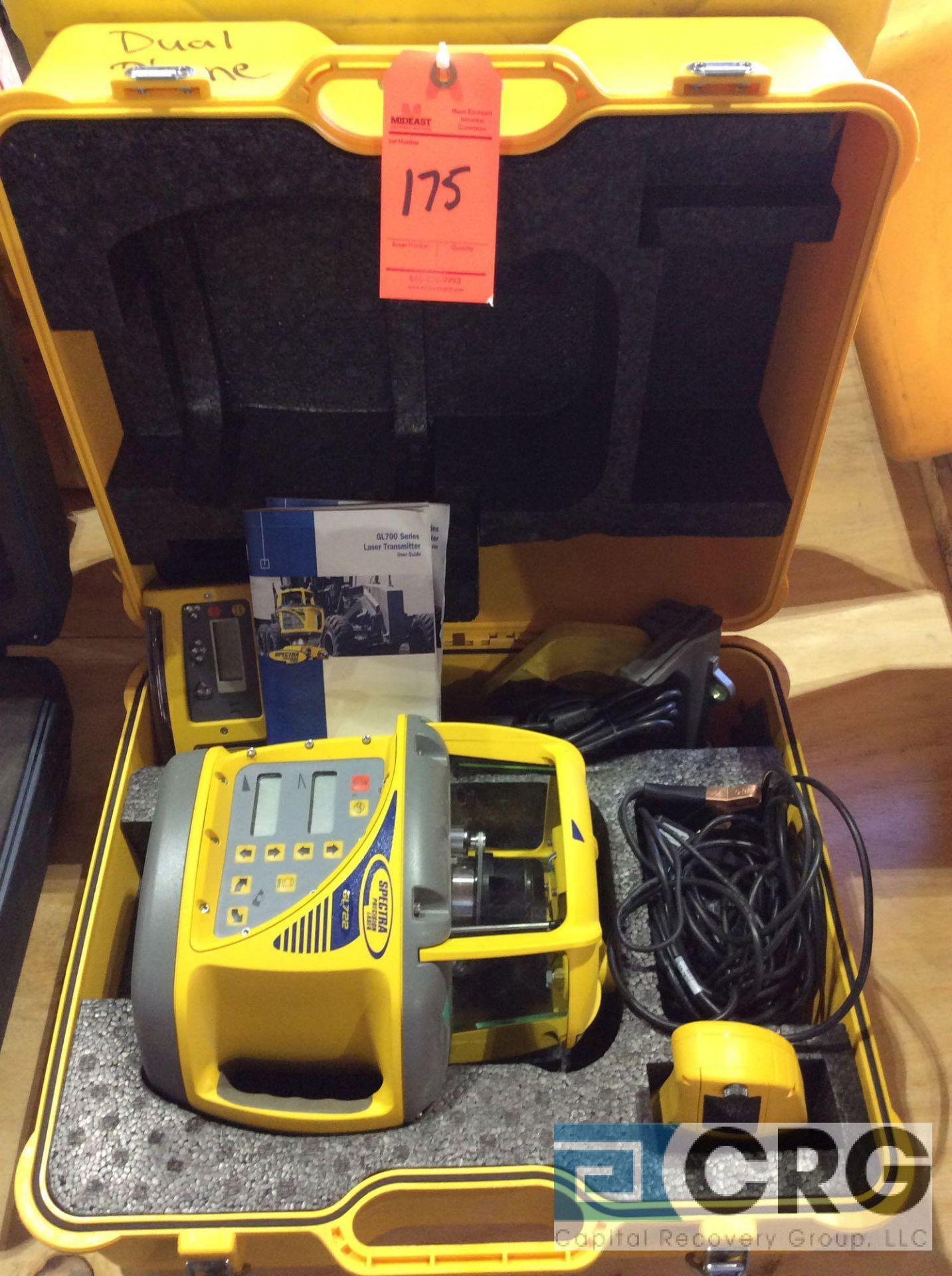 Lot 175 - Trimble GL722 Dual grade laser (works with Trimble Grade Control System)