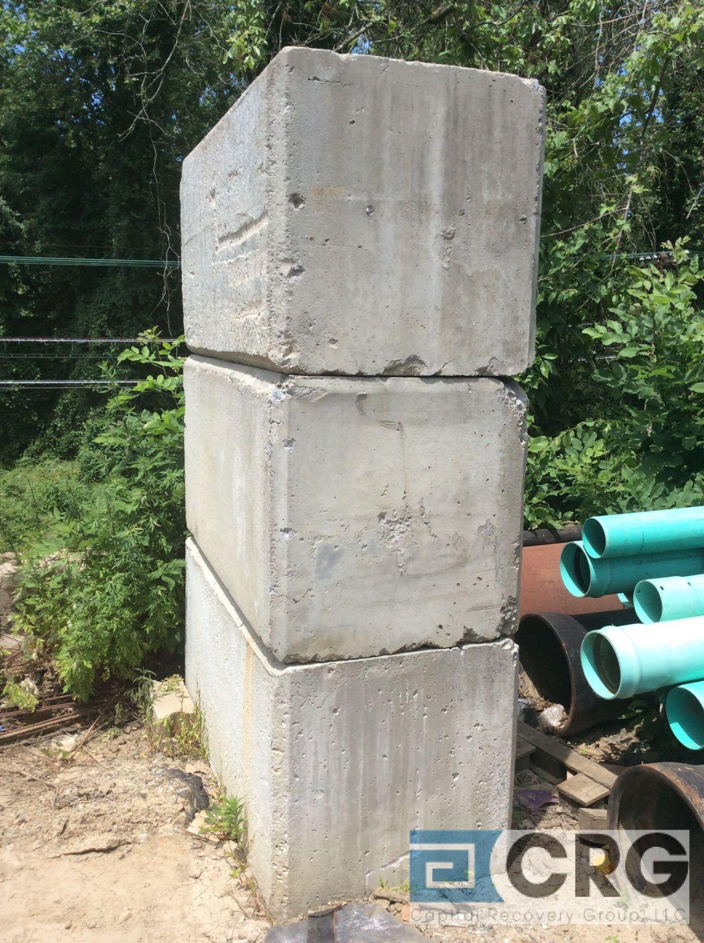 Lot 472 - Lot of (3) 3 x 3 X 4 foot long concrete blocks
