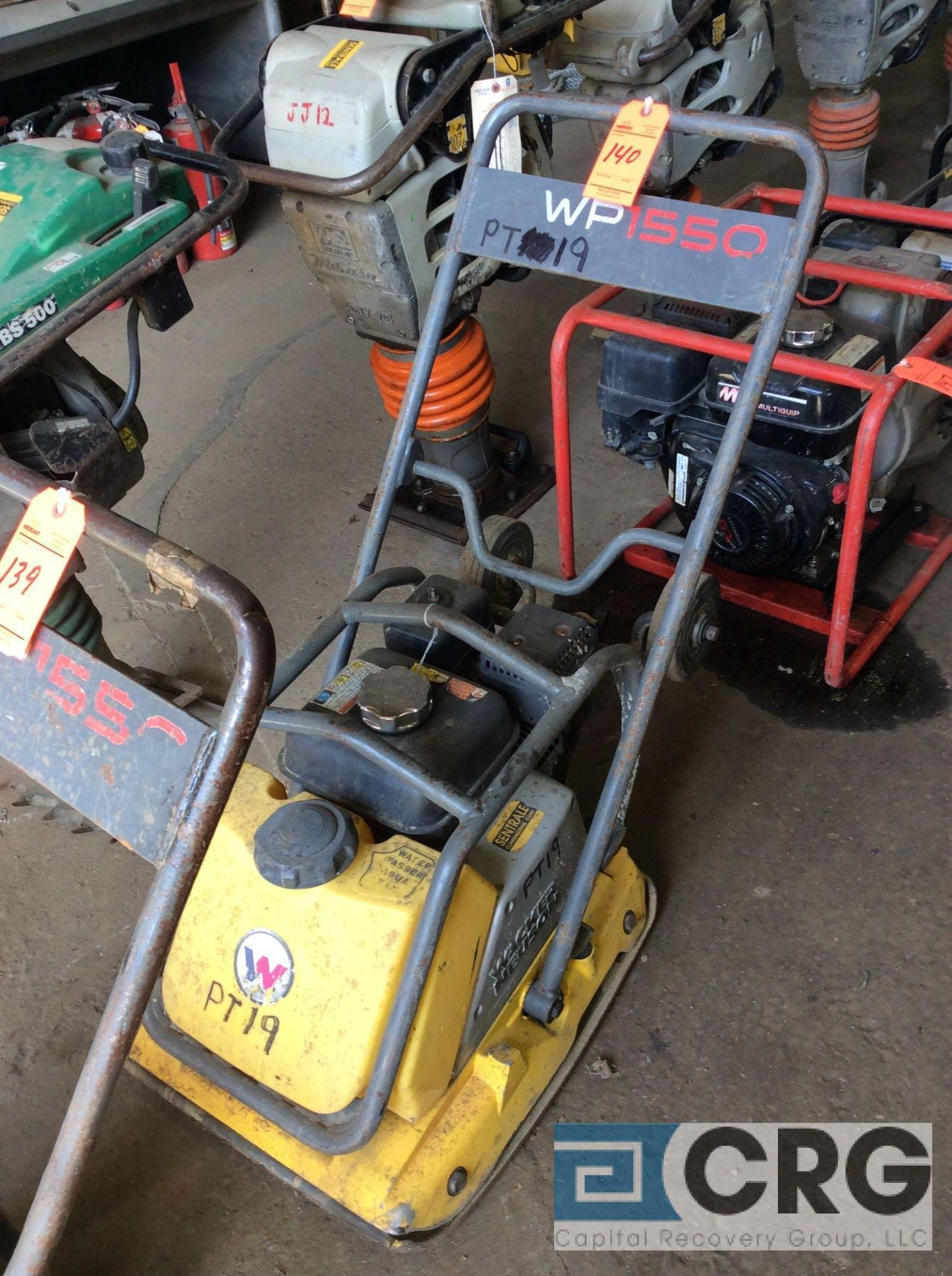 Lot 140 - Wacker WP1550AW single direction plate compactor with water tank, with Honda GX160 motor
