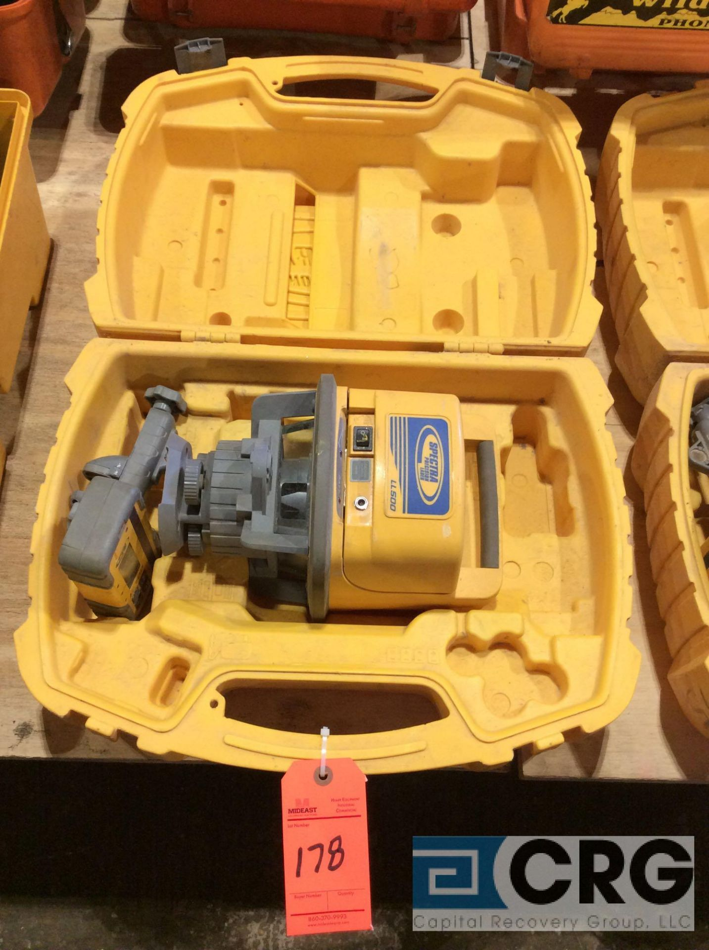 Lot 178 - Trimble LL500 Spectra Precision laser transmitter with case