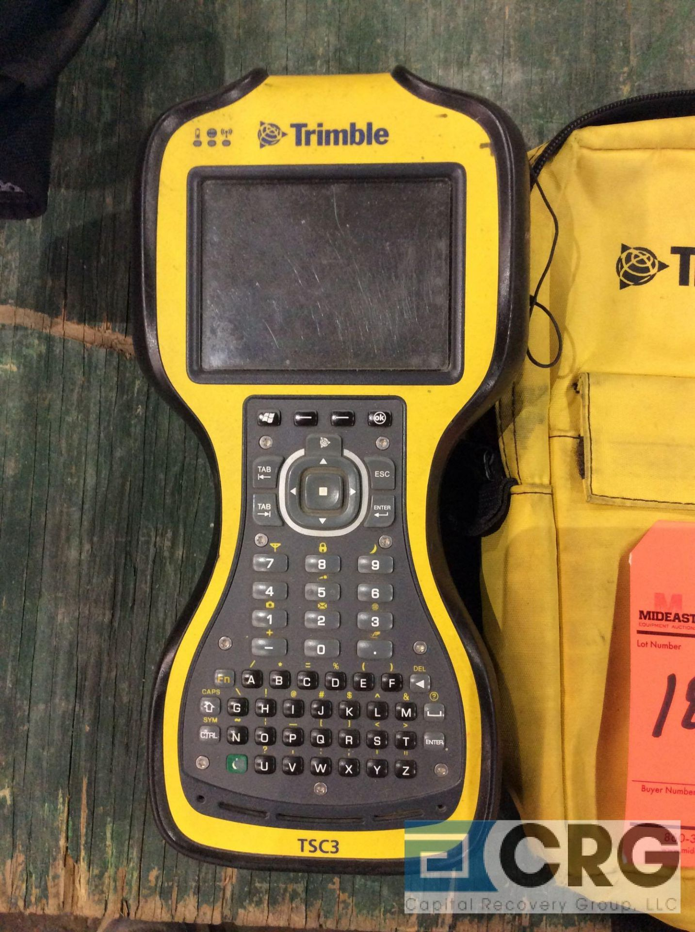 Lot 186 - Trimble GPS TSC3 data collector with storage bag
