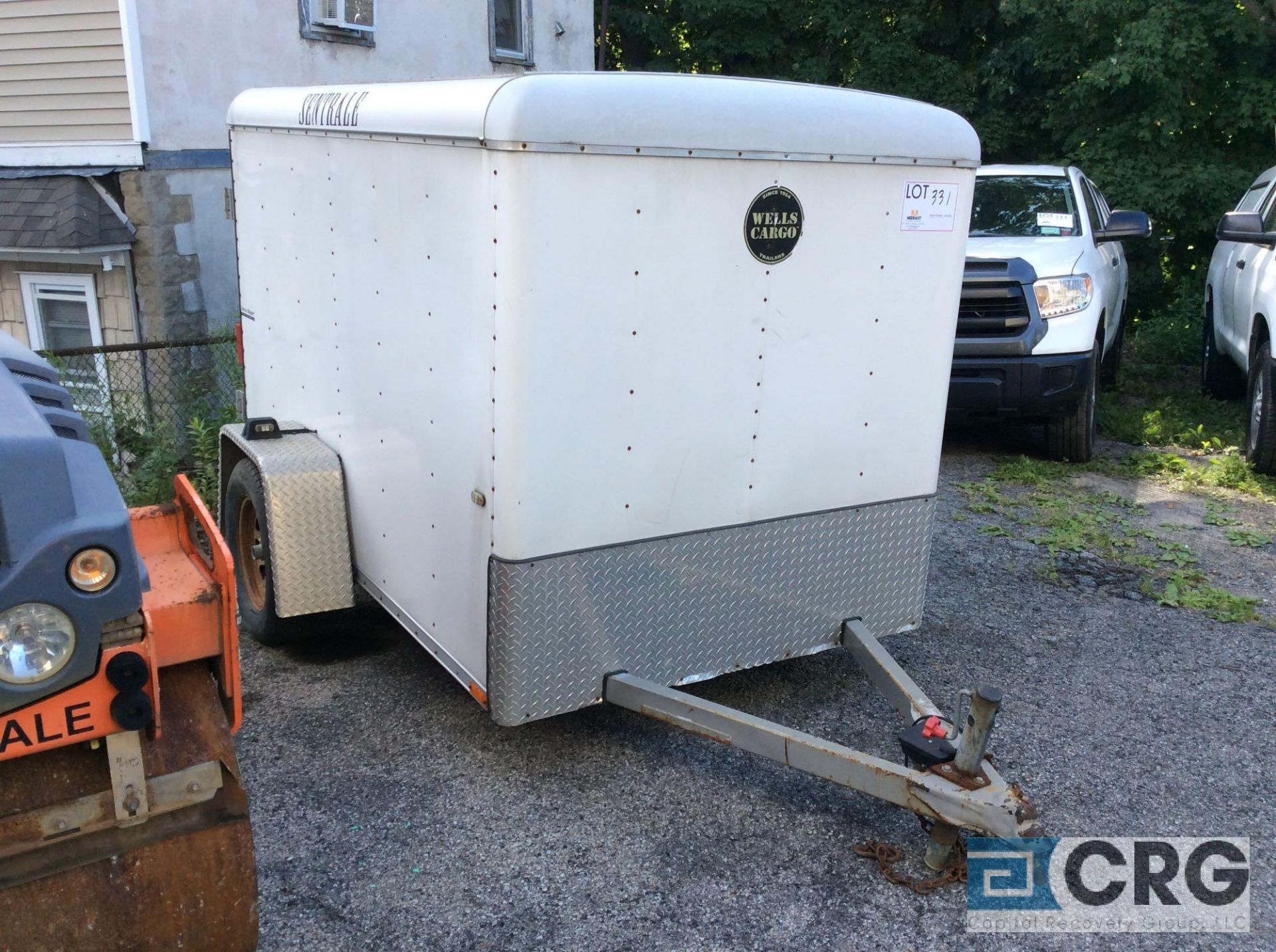 Lot 331 - 2005 Wells Cargo SW8 Enclosed Cargo Trailer, 8' X 5' VIN # 1WC200C1X58007492