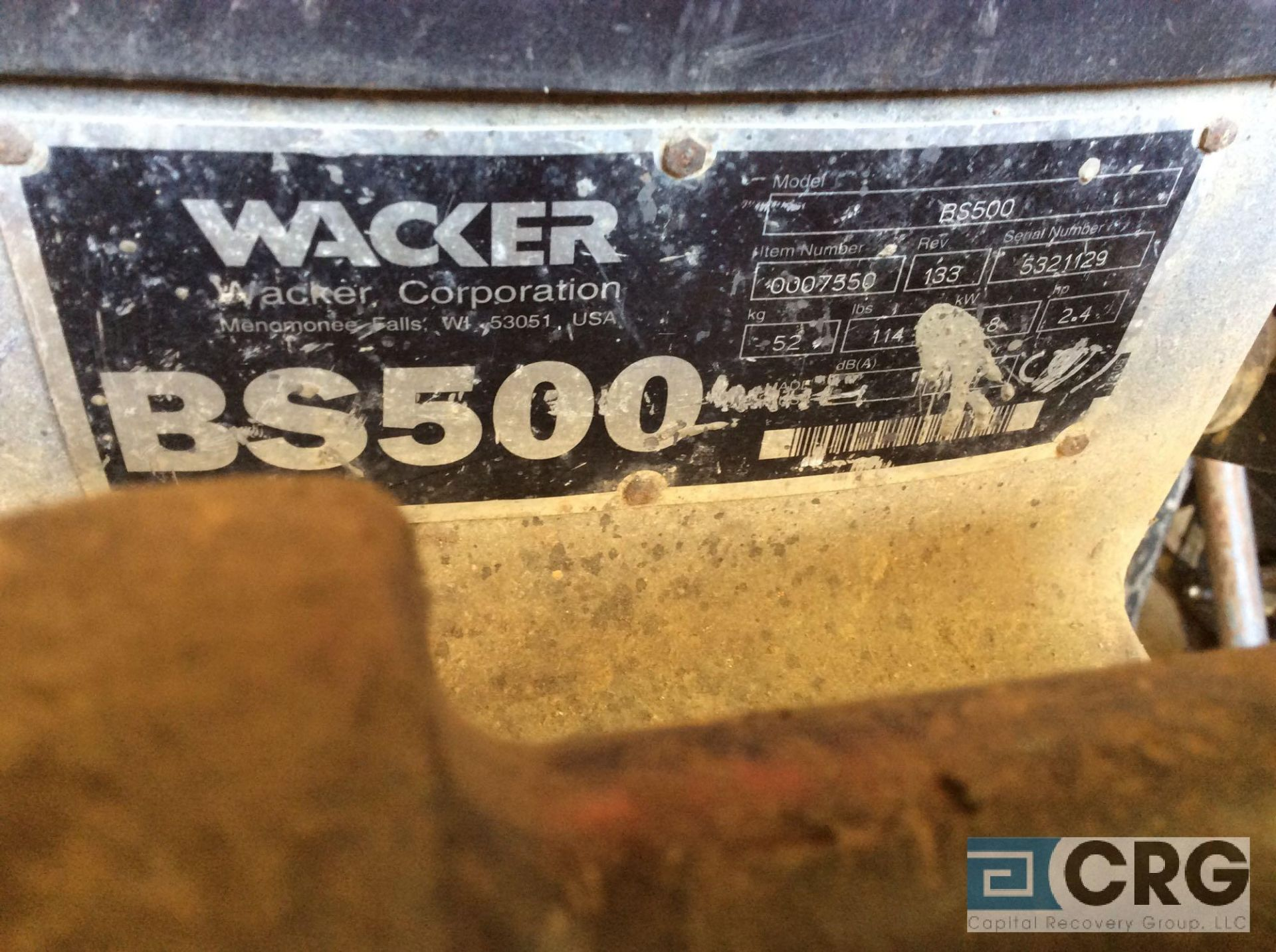 Lot 135 - Wacker BS500 jumping jack tamper