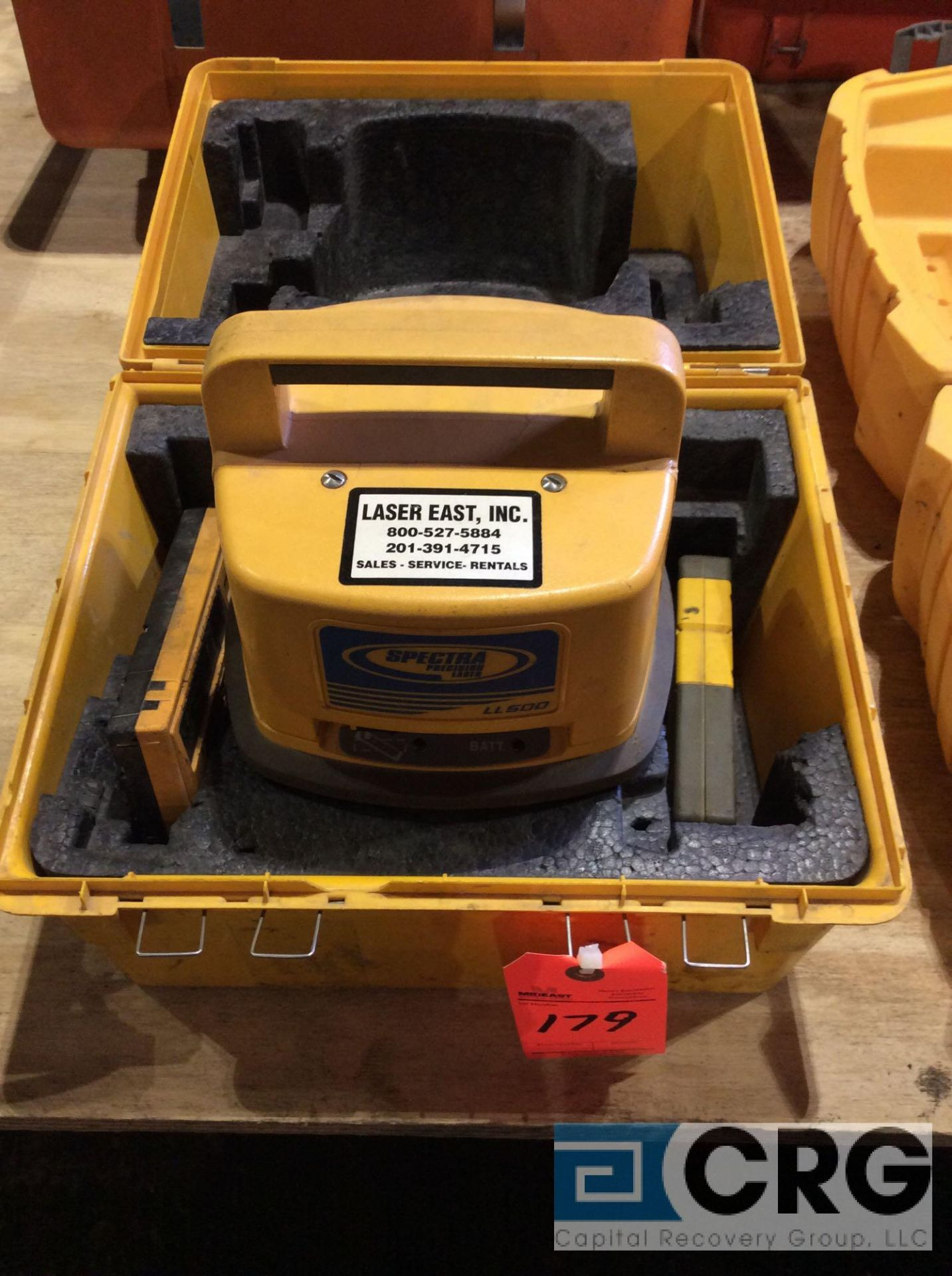 Lot 179 - Trimble LL500 Spectra Precision laser transmitter with case