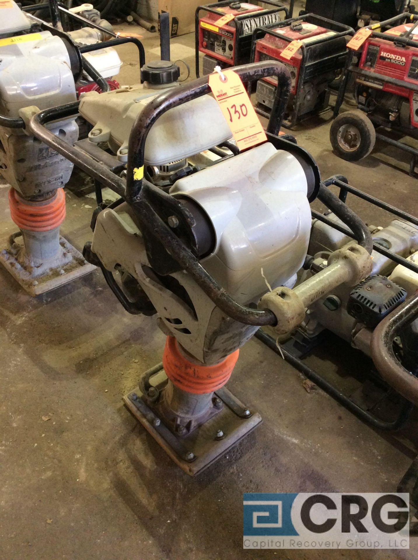 Lot 130 - MultiQuip MTX60 jumping jack tamper with Honda GX100 motor, 184 hours