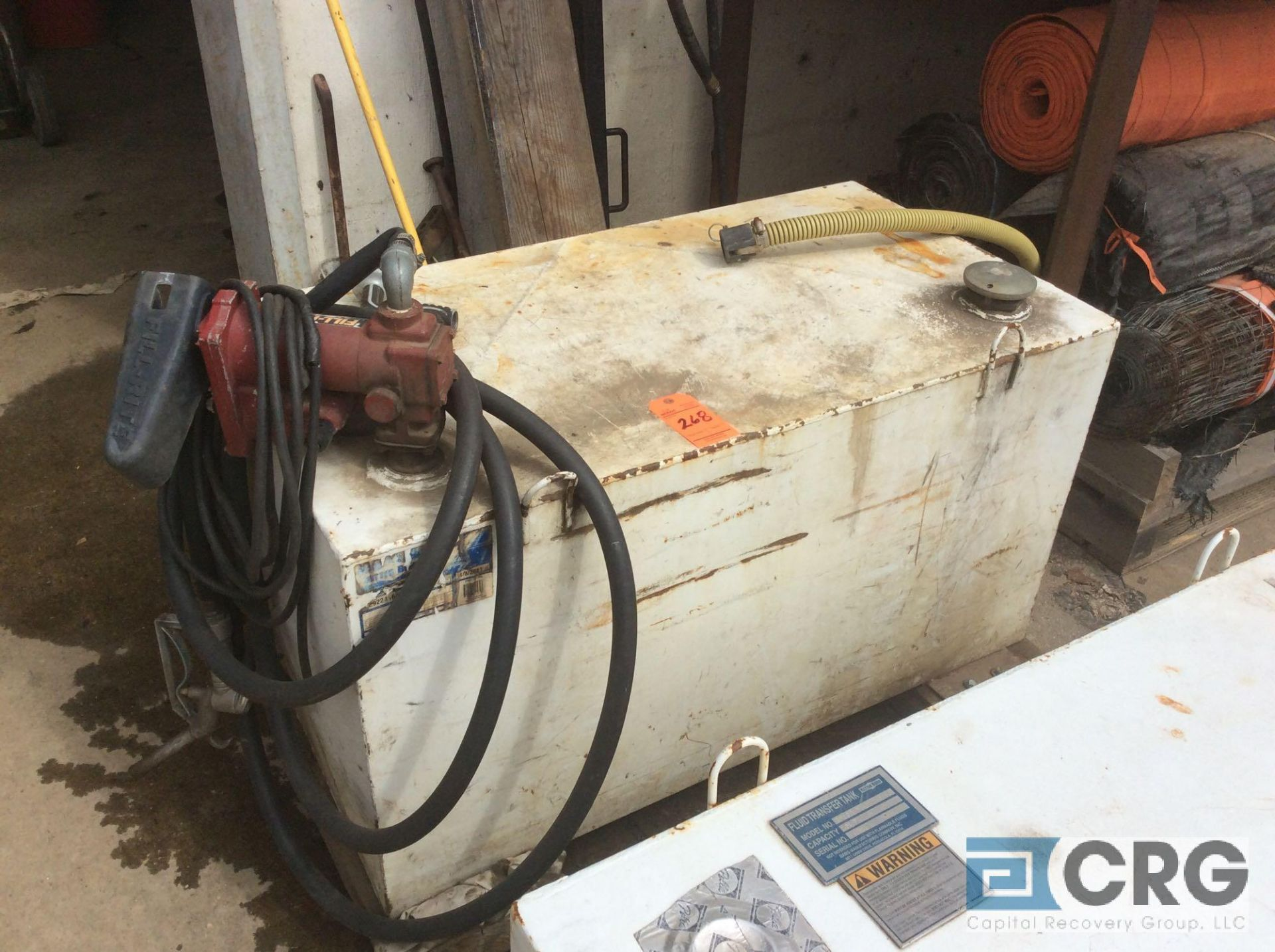 Lot 268 - Better Built 100 gallon transfer tank with pump