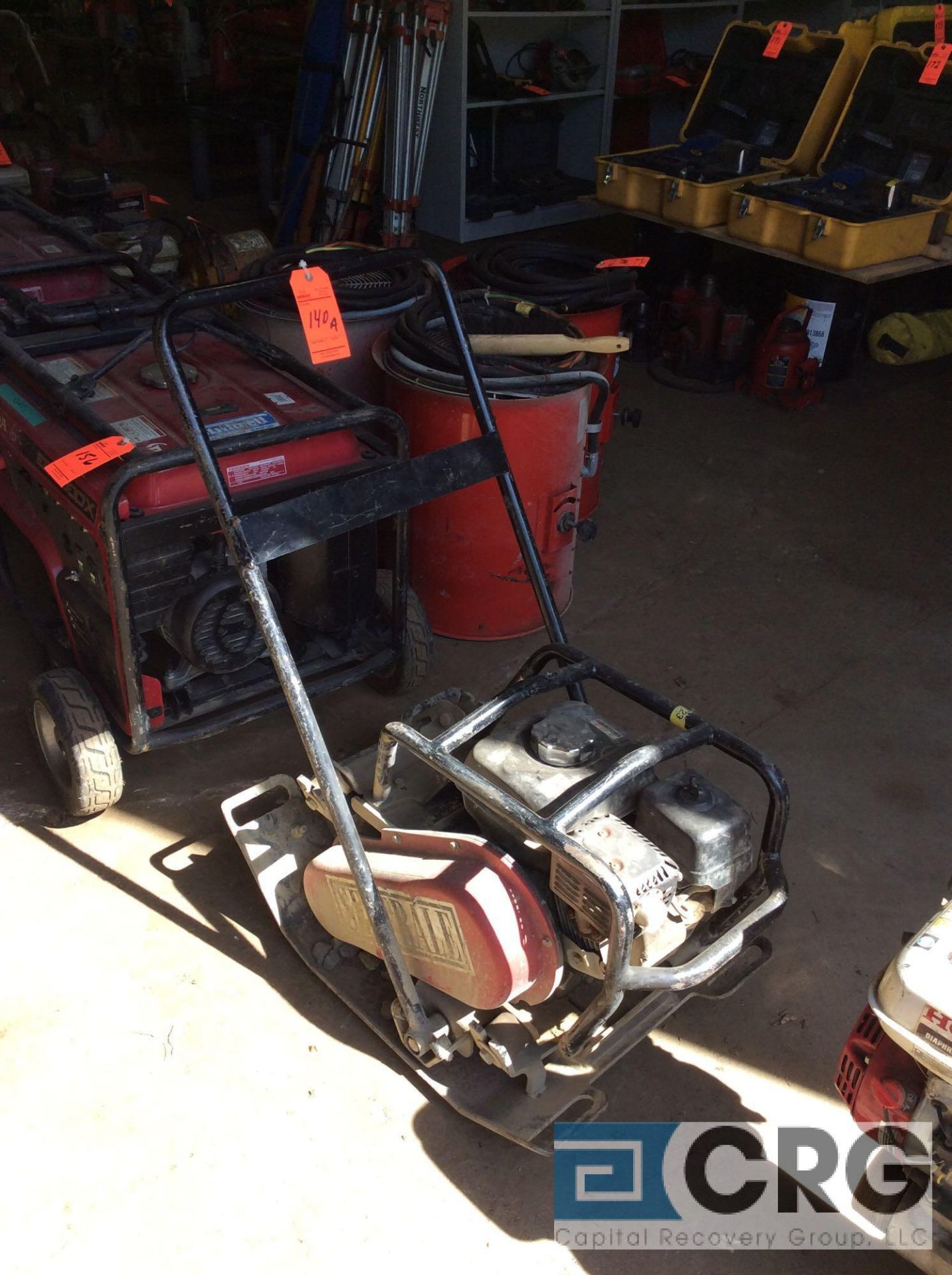 Lot 140A - Toro 68026 single direction plate compactor, with Honda GX160 motor