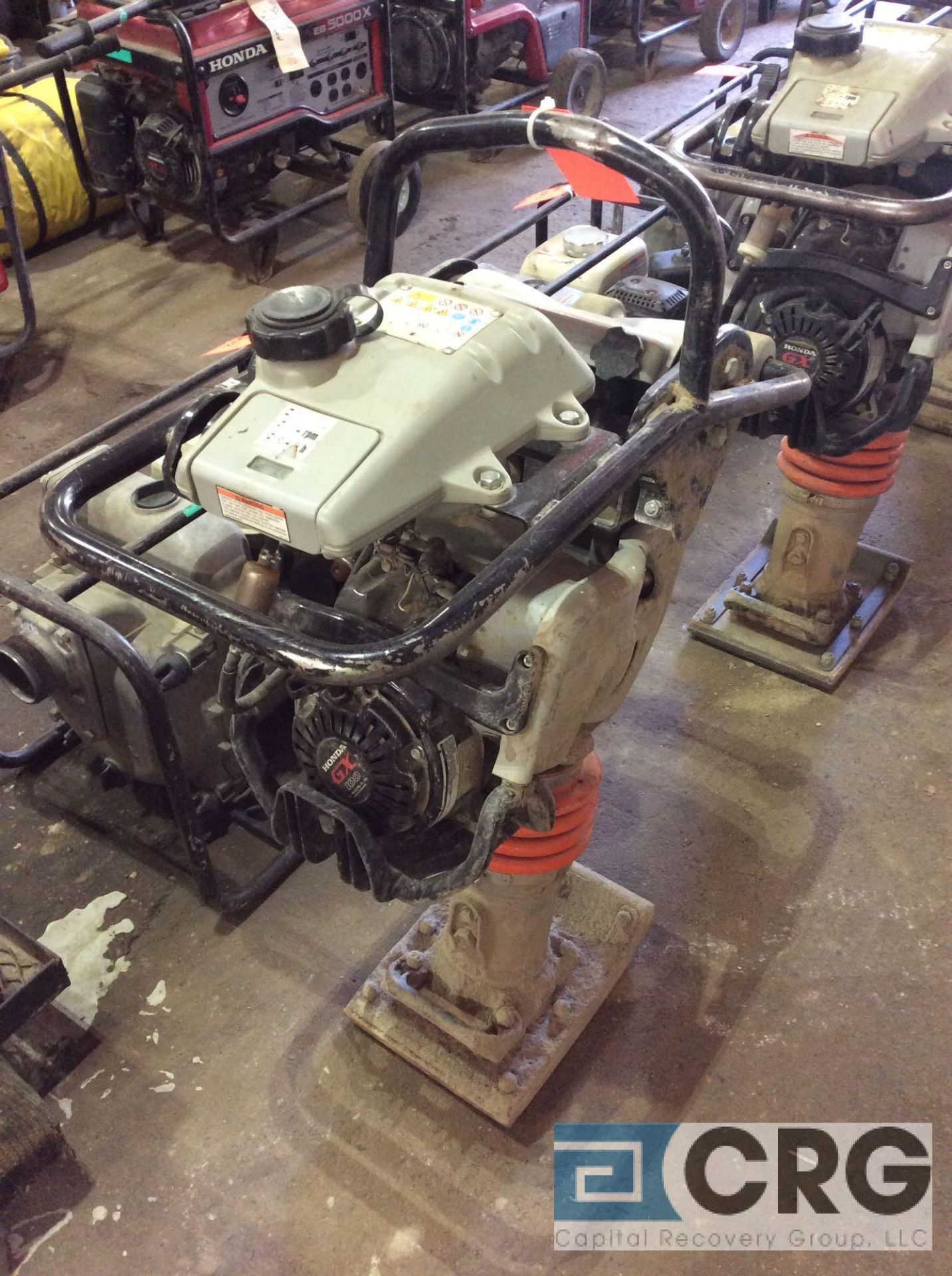 Lot 129 - MultiQuip MTX60 jumping jack tamper with Honda GX100 motor, 65 hours