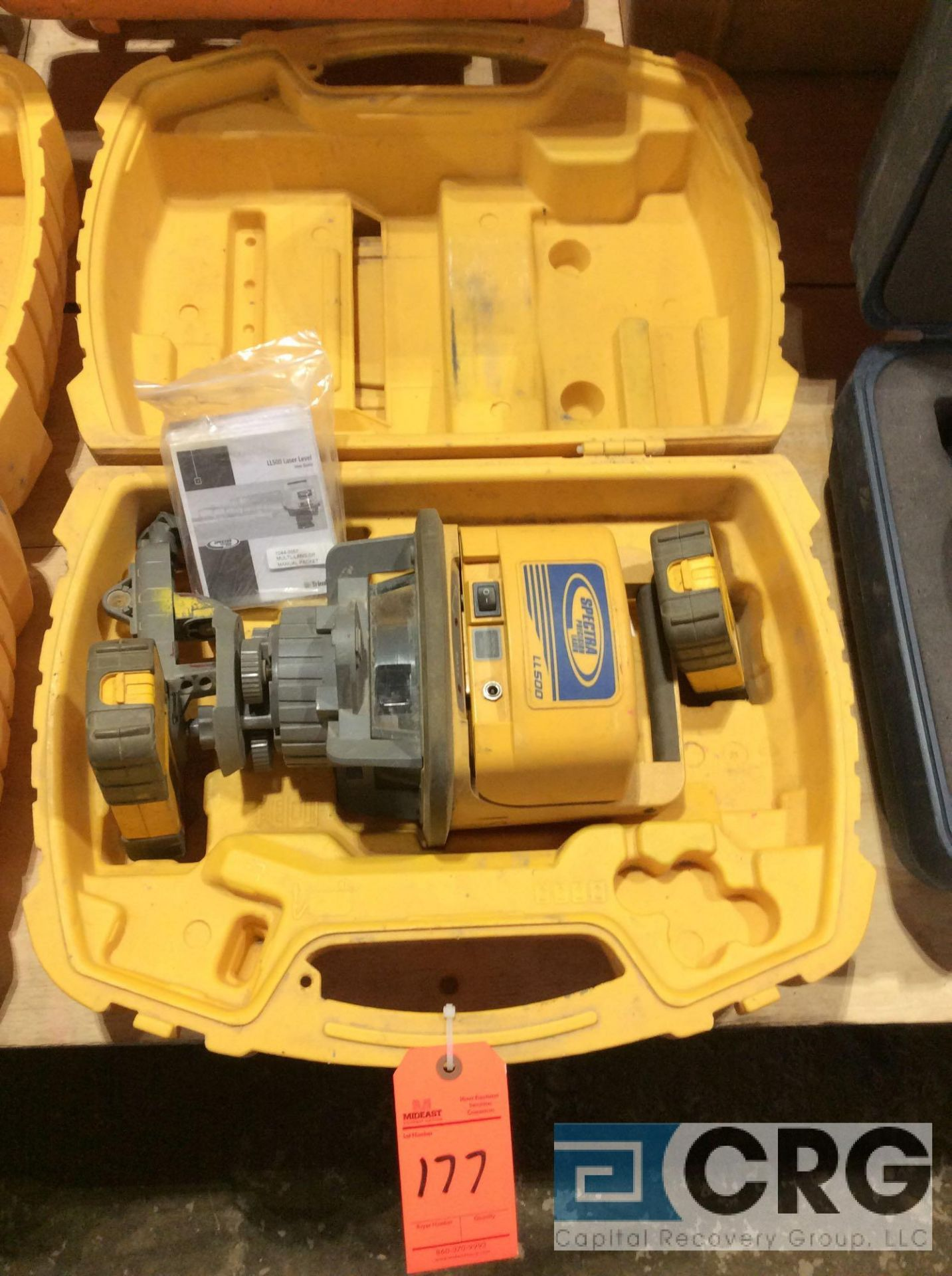 Lot 177 - Trimble LL500 Spectra Precision laser transmitter with case