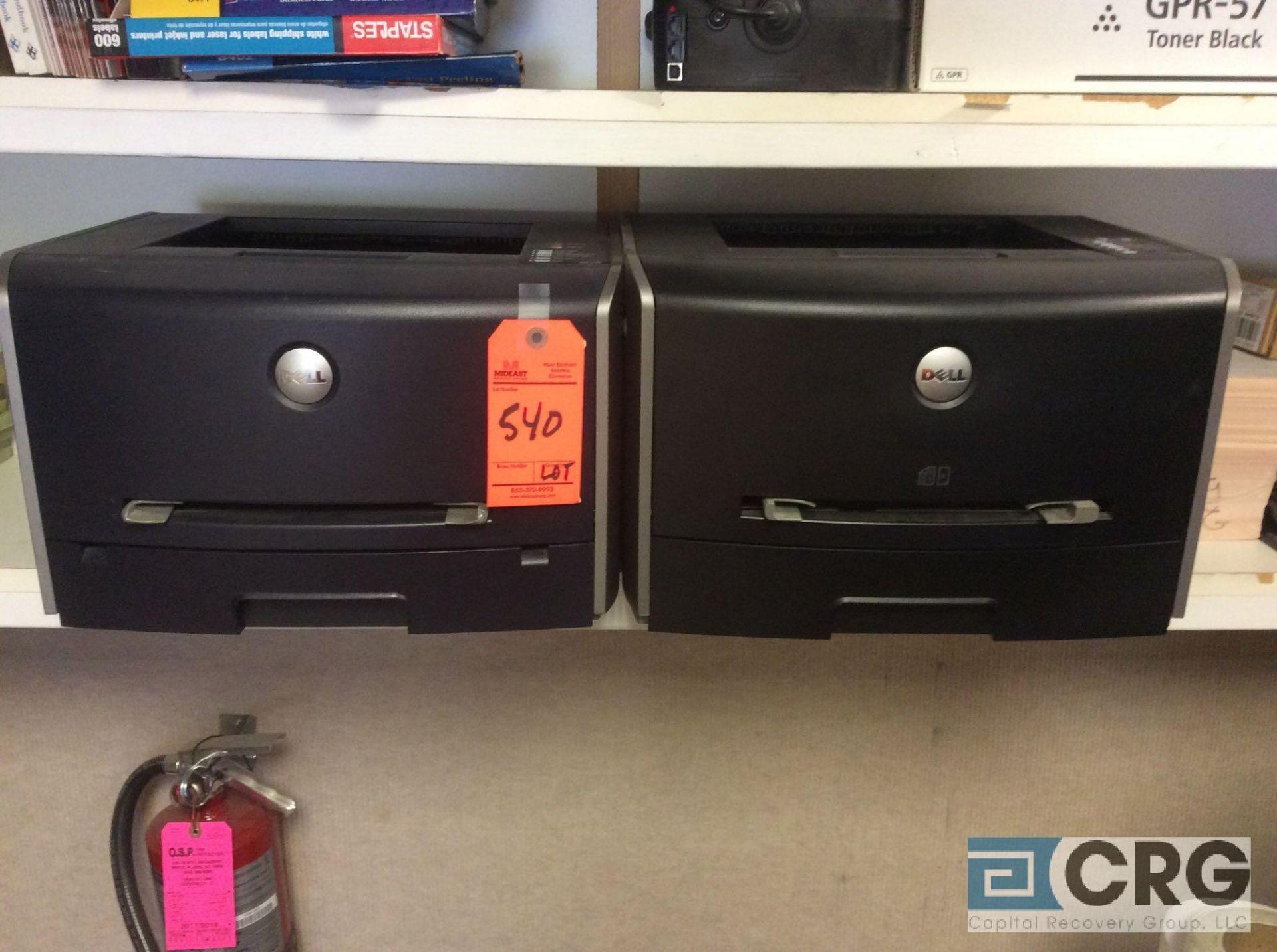 Lot 540 - Lot of (2) asst Dell printers