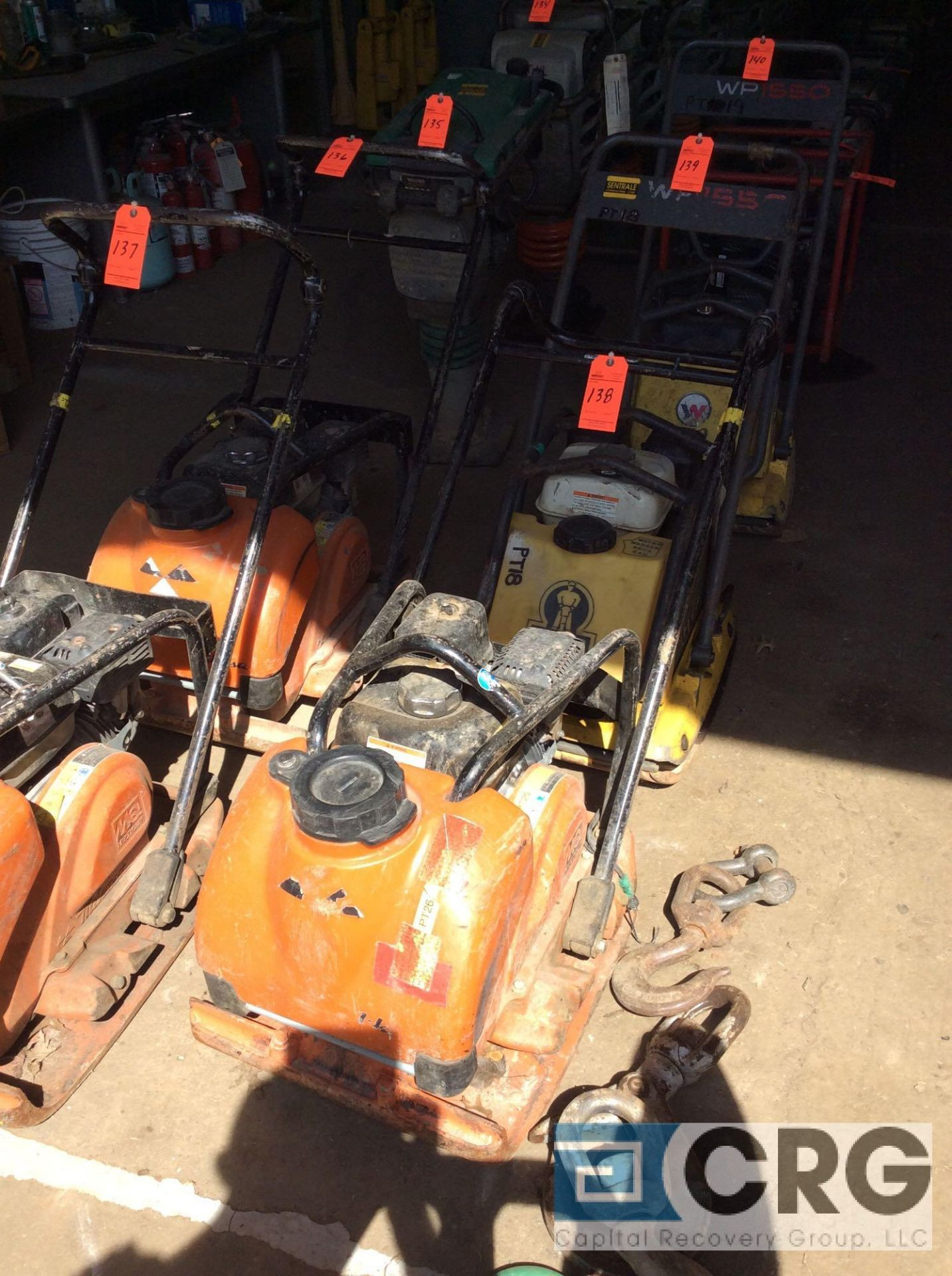 Lot 138 - MultiQuip MVC-88VTHW single direction plate compactor with water tank, Honda GX160 motor, 68 hours