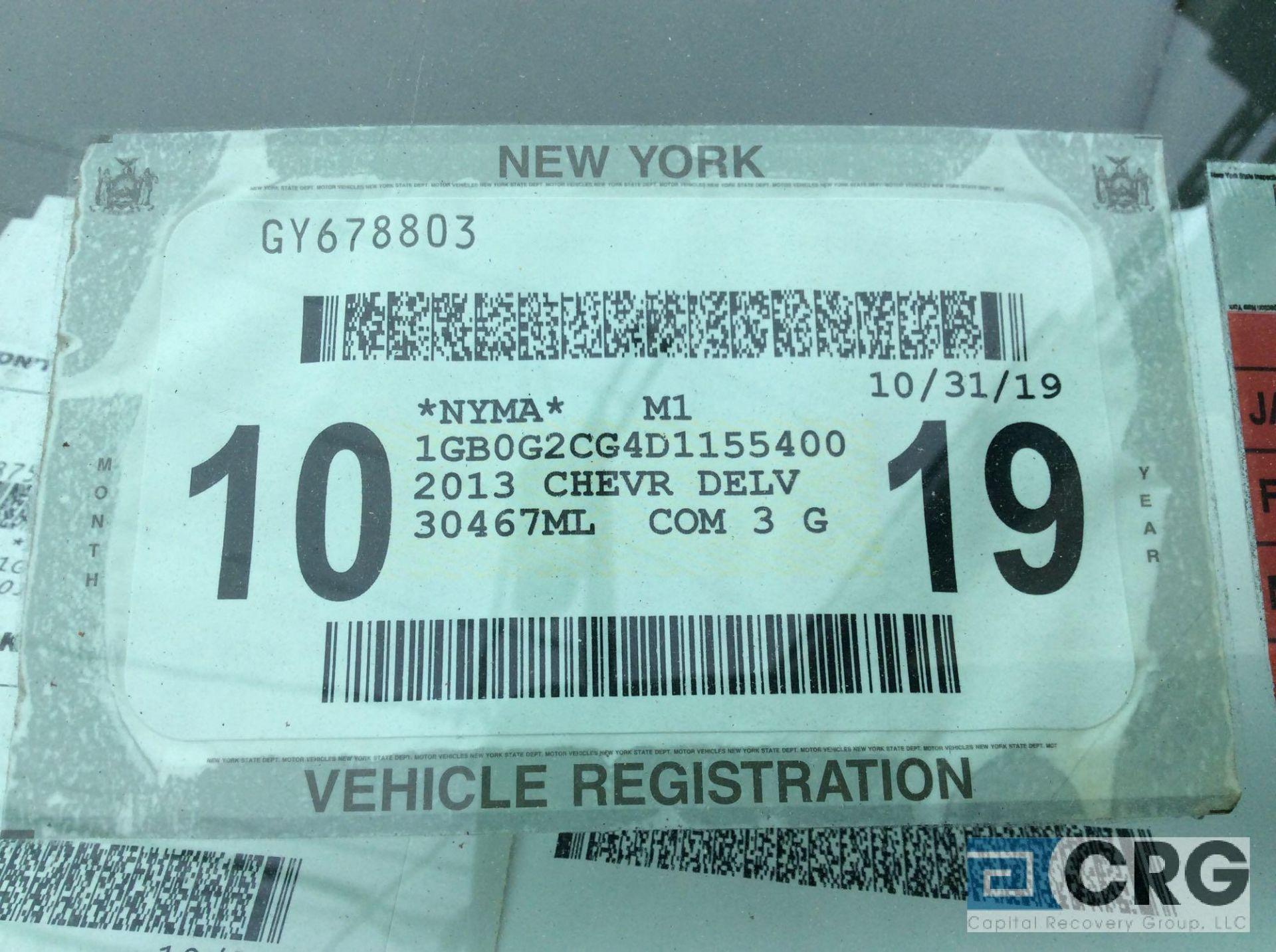 Lot 336 - 2013 Chevy Express 3500 14 foot box truck, VIN# 1GB0G2CG4D1155400, 98,605 miles