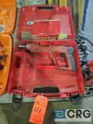 Hilti DXE72 powder actuated nailer with case
