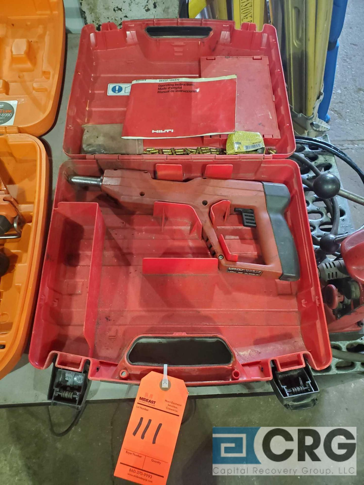 Lot 111 - Hilti DXE72 powder actuated nailer with case