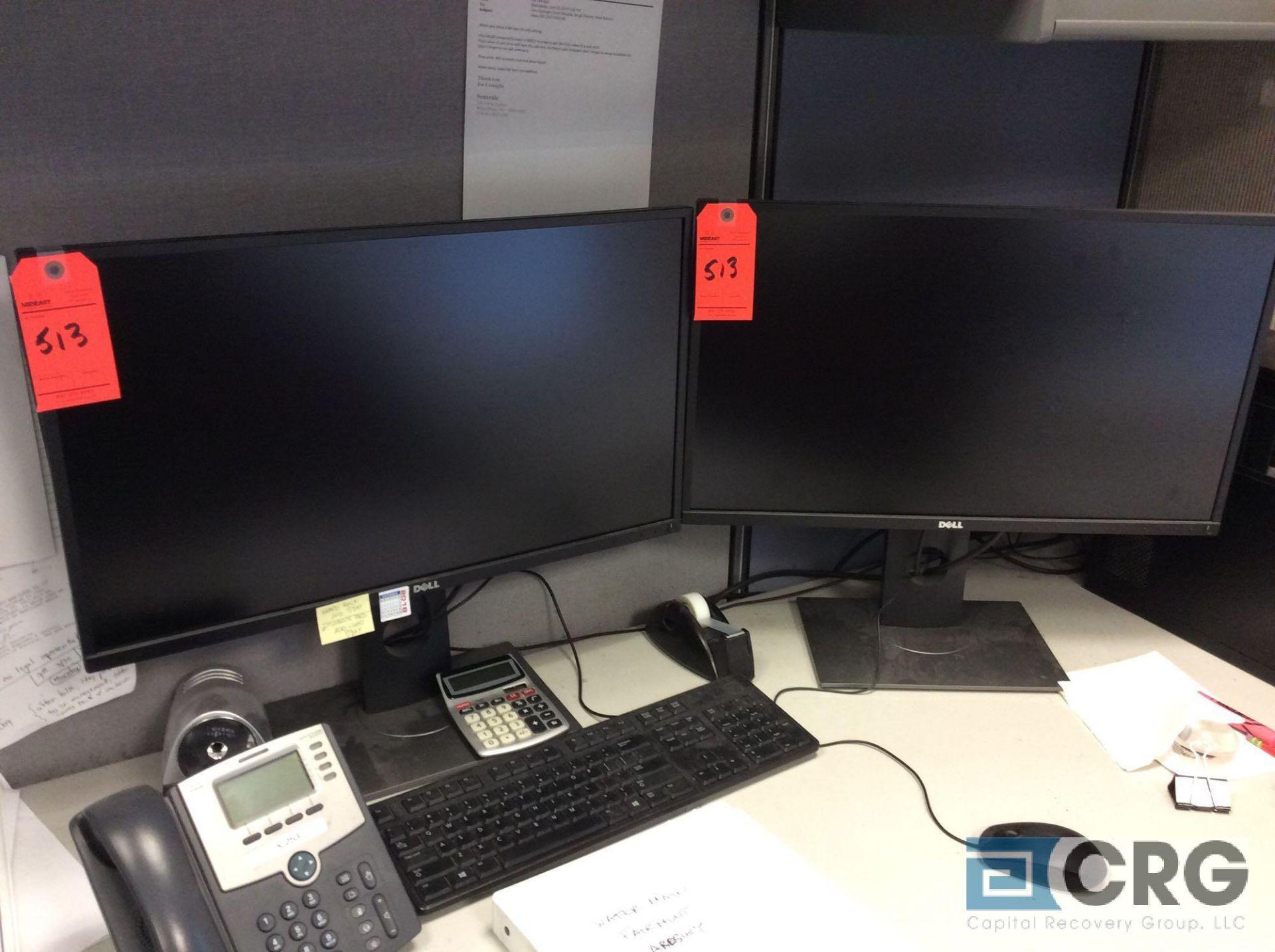 Lot 513 - Lot of (2) Dell flatscreen monitors