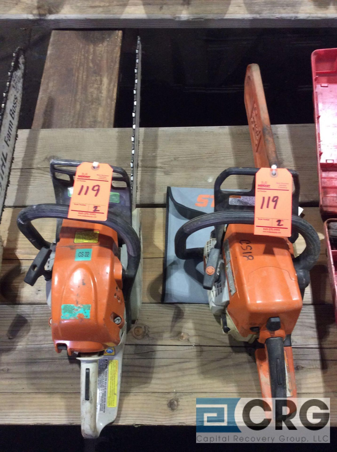 Lot 119 - Lot of (2) asst Stihl gas chain saws