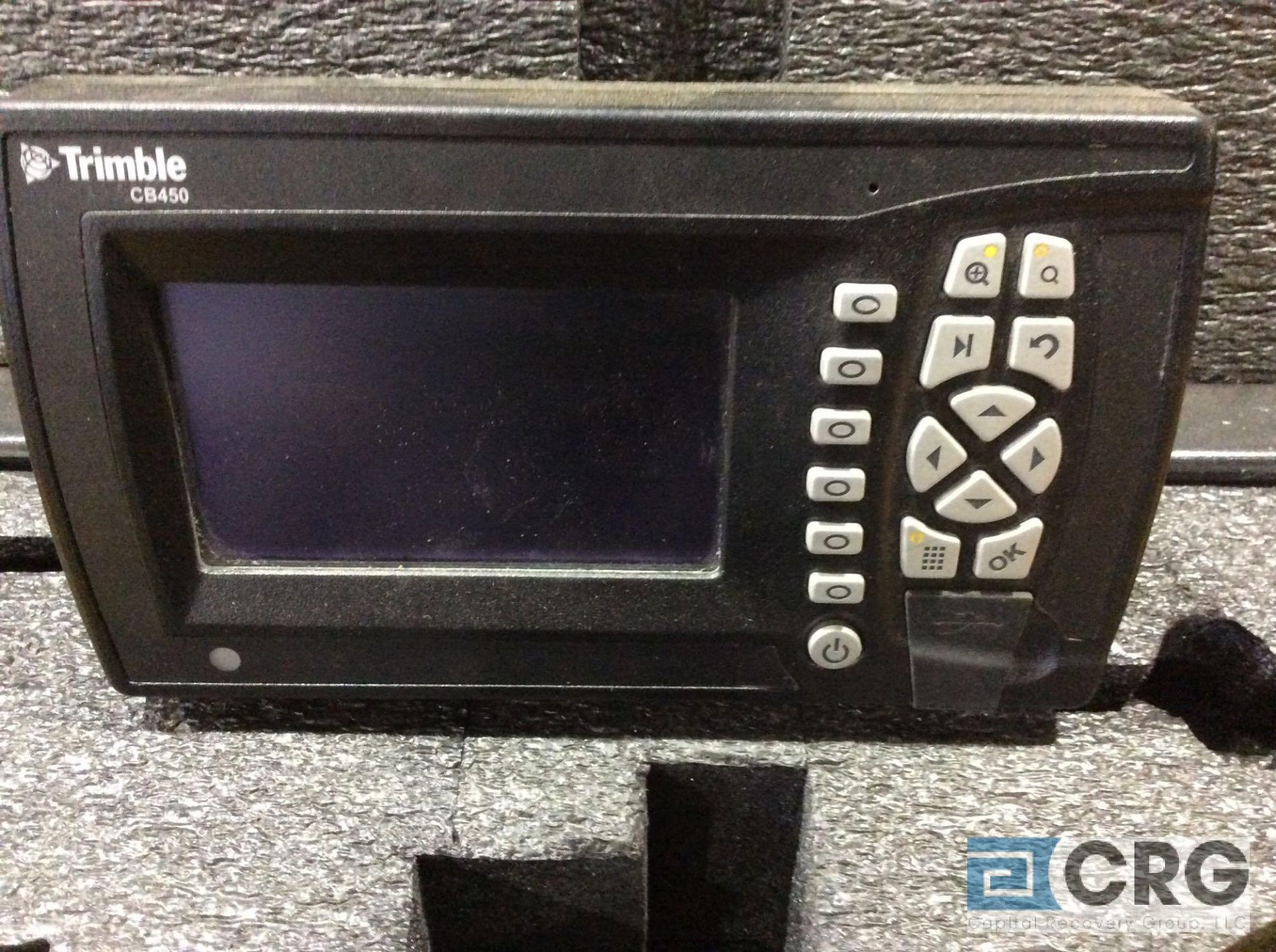 Lot 183 - Trimble GPS (2) LR410 receiver with digital display mn CB450 with case and inside/outside bulldozer
