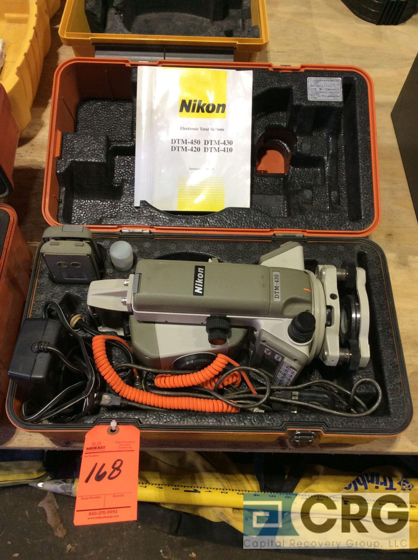 Lot 168 - Nikon DTM-430 electronic total station with case