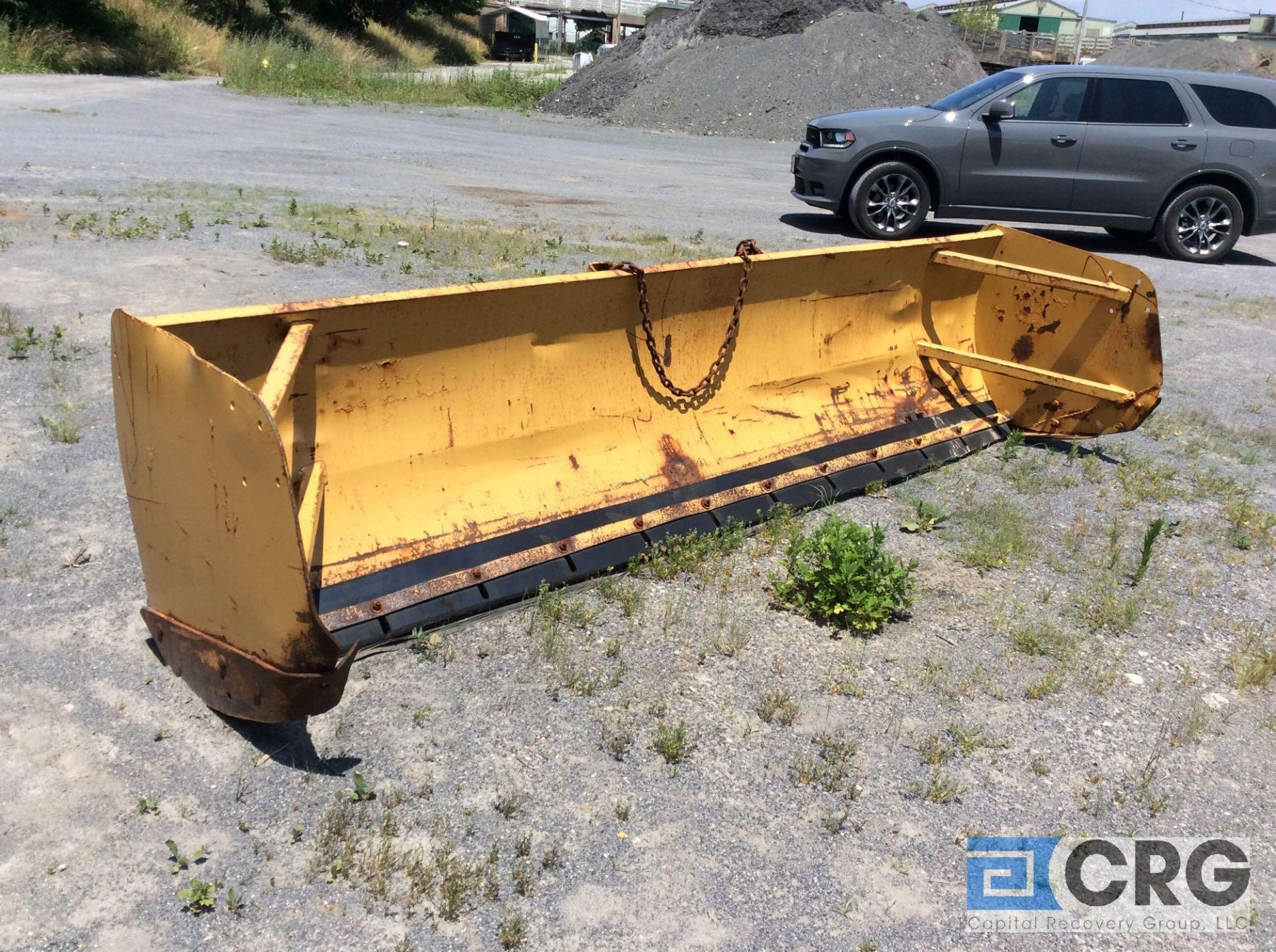 """Lot 498 - Avalanche LDA-200-12 12' Loader model snow pusher, 52"""" tall. Rubber cutting edge."""