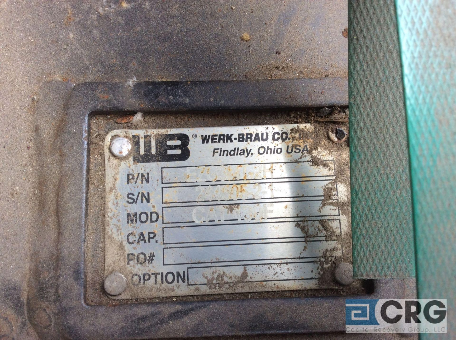 Lot 303A - Werk-Brau Co hydraulic thumb, NEW ON SKIDS NEVER INSTALLED, fits CAT 430 backhoe