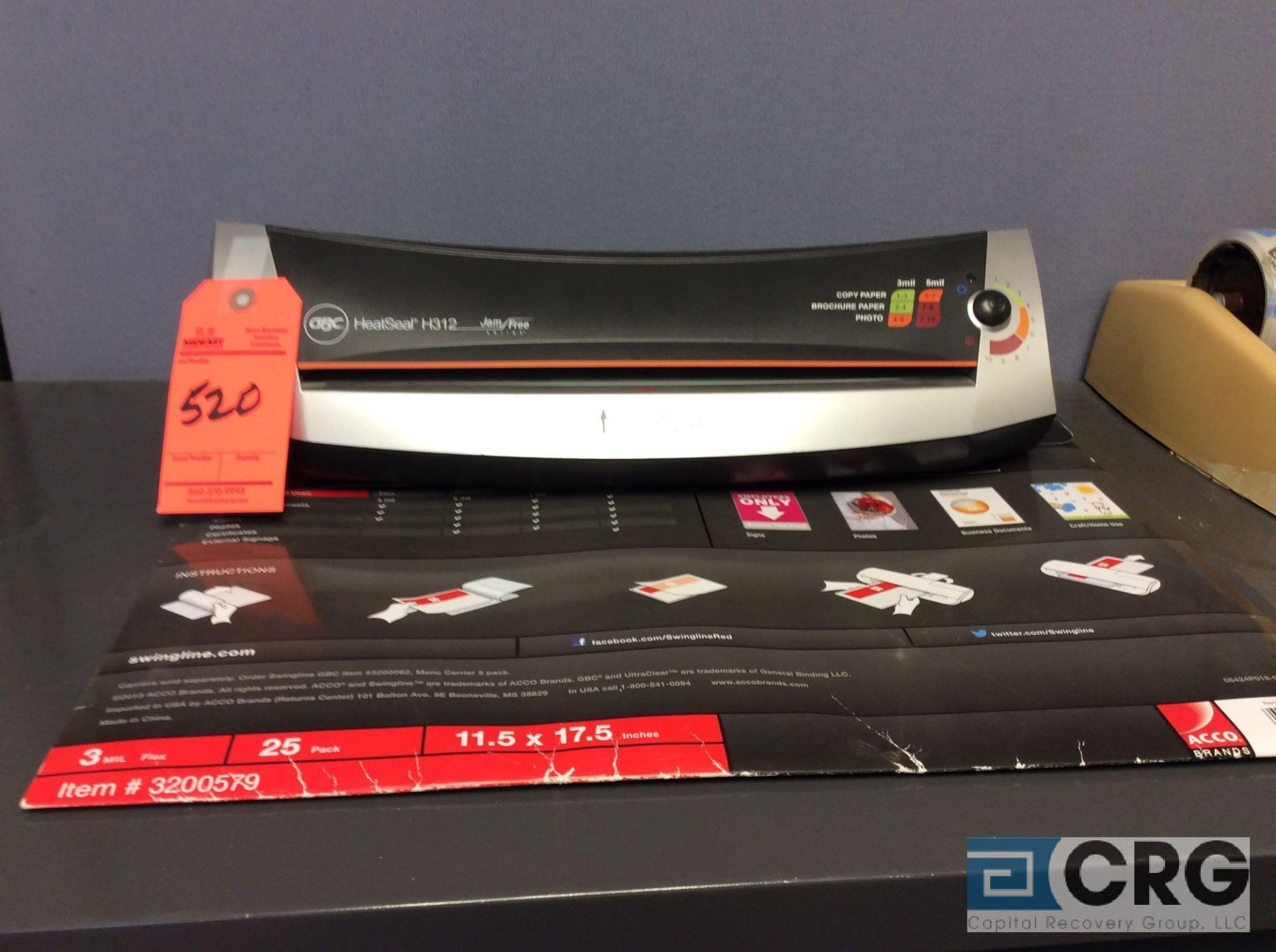 Lot 520 - Lot of (1) GBC heat sealer and (1) Ibico paper binder with accessories