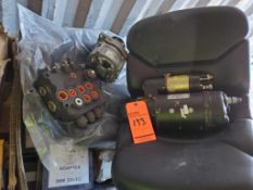 Lot of assorted vehicle and engine parts, including Reman starter p/n 10R0395, Reman alternator p/n