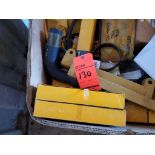 Lot of assorted Cat pieces, including electrical pieces, motor pieces, arm rests, harnesses, wires,